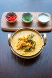 Granchio giallo del curry Fotografia Stock