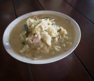 Granchio in minestra della noce di cocco o stufato del granchio Fotografie Stock Libere da Diritti