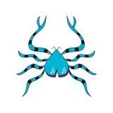Granchio pericoloso blu isolato Immagine Stock
