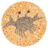 Granchio scuro su una sabbia colorata Fotografia Stock Libera da Diritti