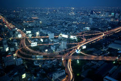Grand échange d'omnibus de ville en Thaïlande Image stock