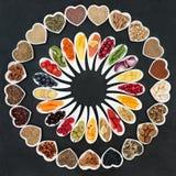 Grand échantillonneur de nourriture biologique Images stock