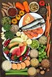 Grand échantillonneur de nourriture biologique Photographie stock