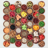 Grand échantillonneur de nourriture biologique Image libre de droits