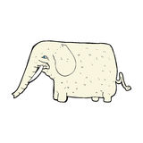grand éléphant de bande dessinée comique Image libre de droits