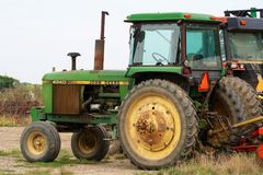 Grand état vert de John Deere Tractor Rural New York Photos stock
