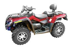 Grand 4x4 atv isolated stock image