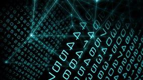 Grand abrégé sur données de Digital, illustration d'attaque de cyber illustration de vecteur