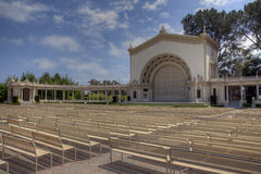 Grand Amphitheatre with Seating. A grand amphitheatre with an outdoor stage with several rows of seating Stock Photography