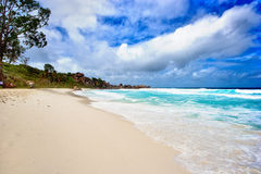 Grand anse beach. On seychelles Royalty Free Stock Photography