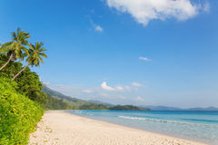 Grand' Anse  beach on Mahe island, Seychelles Stock Photos