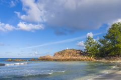 Grand Anse beach, Seychelles Stock Images