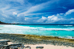 Grand Anse, La Digue island. The Seychelles Royalty Free Stock Image