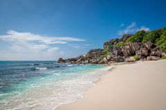 Grande anse. Grand anse in La Digue, Seychelles Stock Photography
