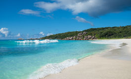 Grand Anse tropical beach, La Digue island, Seychelles Stock Images