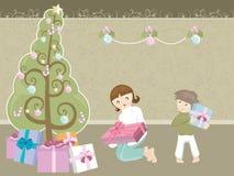 Grand arbre de Noël Photographie stock