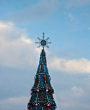 Grand arbre de Noël Photos stock