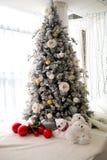 Grand arbre de Noël Photo libre de droits