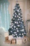 Grand arbre de Noël Images stock