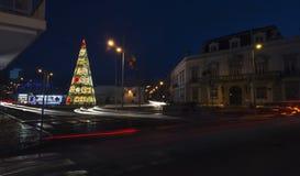Grand arbre de Noël dans la ville de Faro Image libre de droits