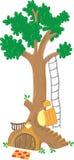 Grand arbre féerique illustration libre de droits