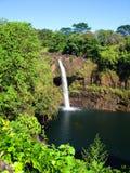 grand arc-en-ciel d'île d'Hawaï d'automnes Photo libre de droits