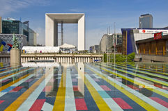 Grand Arch. Business district La Defense Royalty Free Stock Photos