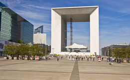 Grand Arch. Business district La Defense Royalty Free Stock Photo