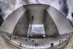 Grand Arch de Λα Defense, Παρίσι Στοκ εικόνες με δικαίωμα ελεύθερης χρήσης