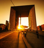 Grand Arch de la Defense stockfoto