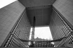 Grand Arch de la Defense, affare moderno e distretto finanziario a Parigi, Francia fotografia stock