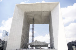 Grand Arch In La Defense Paris Royalty Free Stock Photos