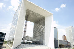 Grand Arch In La Defense Paris Royalty Free Stock Photography