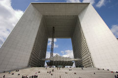 Grand Arch, la Defense, Paris. The Grand Arch in paris, France Stock Photos