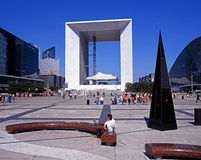 The Grand Arch, Paris. Stock Image