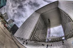Grand Arche de la Defense, Paris Lizenzfreies Stockfoto