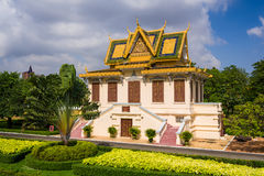 Grand architecture and beautiful garden Royalty Free Stock Image