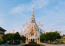 Grand architecture of Wat Sothon Wararam Worawihan, Chachoengsao, Thailand stock image