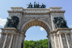 Grand Army Plaza - Brooklyn, New York. Soldiers and Sailors Memorial Arch at the Grand Army Plaza in Brooklyn, New York City Royalty Free Stock Photo