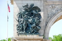 Grand Army Plaza - Brooklyn, New York. Soldiers and Sailors Memorial Arch at the Grand Army Plaza in Brooklyn, New York City Royalty Free Stock Image