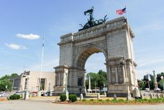 Grand Army Plaza - Brooklyn, New York. Triumphal Arch at the Grand Army Plaza in Brooklyn, New York City Stock Photography