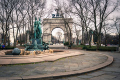 Grand Army Plaza Brooklyn NY. BROOKLYN, NY - MARCH 1, 2013:  Soldiers and Sailors Memorial Arch at Grand Army Plaza in Brooklyn, NY.  This historic Triumphal Stock Image