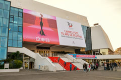Grand Auditorium Louis Lumiere in Cannes Stock Photography