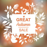 Grand Autumn Sale Banner illustration stock