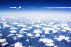Grand avion de passagers Photographie stock