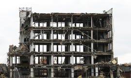 Grand bâtiment détruit Images stock