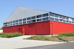 Grand bâtiment d'entrepôt Photo stock