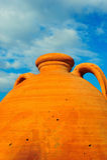 Grand bac grec en céramique Photos libres de droits