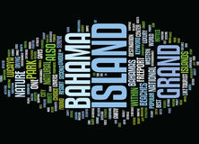 Grand Bahama Island Text Background Word Cloud Concept vector illustration