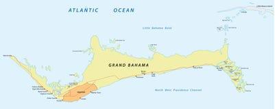 Grand bahama map Royalty Free Stock Photo